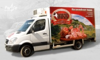 Car branding , Developing a vision and branding company truck за MKV